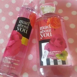 BATH & BODY WORKS♡Mad about u fragance/shower Set